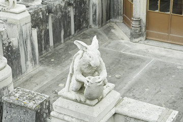 Rabbit in castle