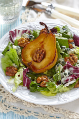 Salad with pear