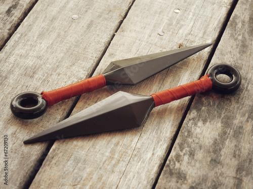 Papiers peints Retro throw ninja weapons retro vintage style