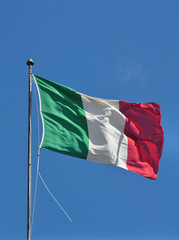 Italy flag waving on the wind