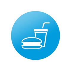 Etiqueta redonda fast food