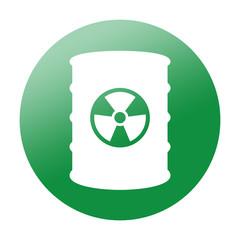 Etiqueta redonda contenedor de residuos