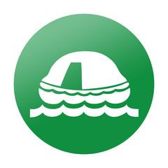 Etiqueta redonda balsa salvavidas