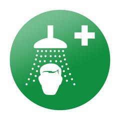 Etiqueta redonda ducha de seguridad