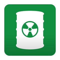 Etiqueta tipo app azul simbolo contenedor de residuos