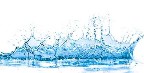 blue water splash