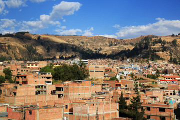 Huaraz City in Cordiliera Blanca, Peru, South America