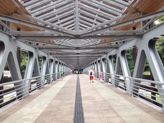 мост для людей через реку