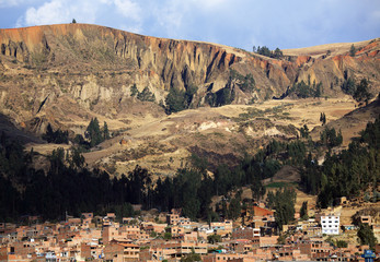 Huaraz City in Cordiliera Blanca, Peru, South America