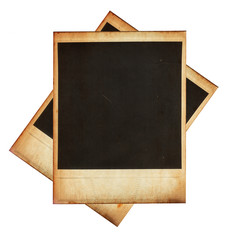 Vintage instant photo frames isolated on white