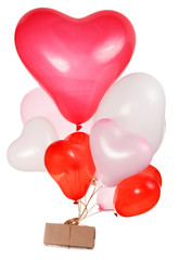 Heart shaped baloons