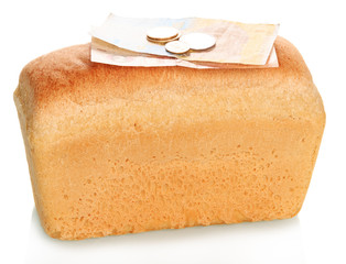 Banknotes on bread