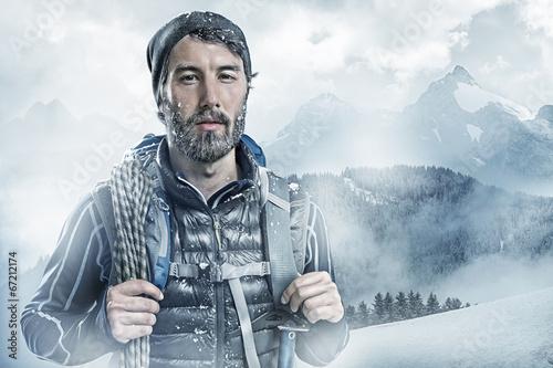 Keuken foto achterwand Wintersporten Cool Moutaineer