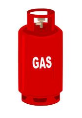 Propane gas cylinder.