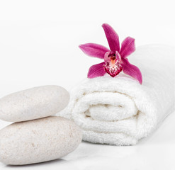 Spa decoration on a white background