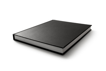 Black book isolated on white #1