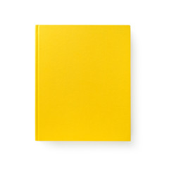 Yellow book isolated on white #1.