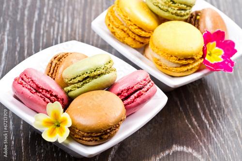Papiers peints Macarons Tasty colorful macaroon