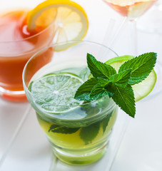Refreshing summer mint cocktail