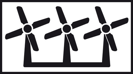 windmill icon with three fan