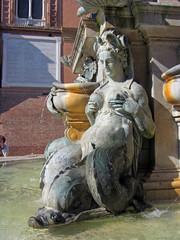 Italy, Emilia Romagna, Bologna, Neptune fountain
