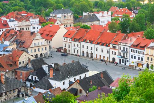 Obraz na Plexi aerial view, Kazimierz Dolny, Poland