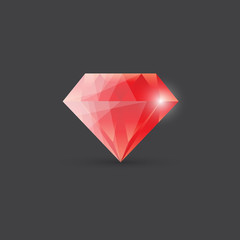 Red diamond, gemstone illustration