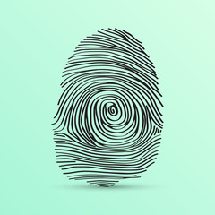 Finger print, vector illustration
