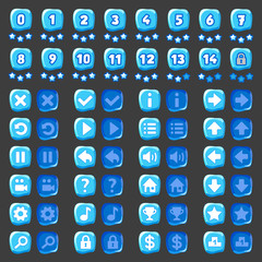 Game menu icons ice buttons