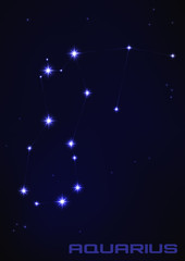 Aquarius star constellation