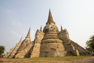 Temple Wat Phra Si Samphet Ayutthaya Thailande