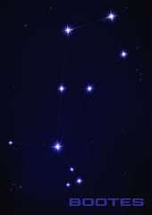 Bootes star constellation