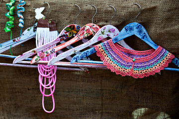 handmade decorated hangers