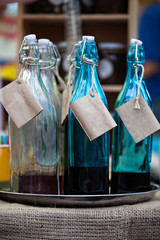 old-fashioned bottles