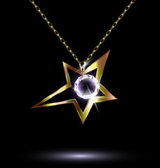 pendant with a large star
