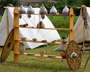 War Equipment and Other Utensils in an Ancient Celtic Encampment
