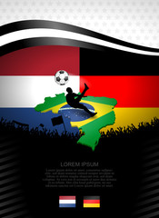 plakat fussball niederlande-deutschland I