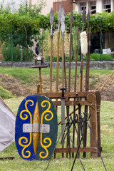 War Equipment in an Ancient Celtic Encampment