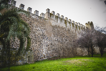 medieval walls of the city of Toledo in Spain, walled town