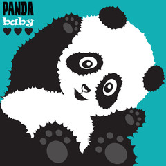 cute panda baby vector illustration