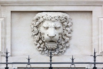 Lion Head High-Relief