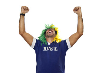 Brazilian fan commemorating