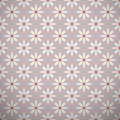 Yoga vector pattern (tiling). Light brown, blue and red colors