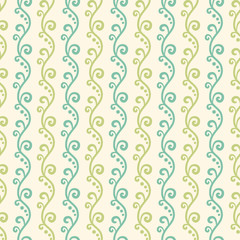 Green garden vector seamless pattern. Abstract texture