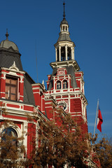 Historic Fire Station in Santiago, Chile