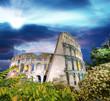 Fototapeta Coloseum - Noc - Widok Miejski