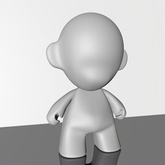 cartoon of a puppet in 3d