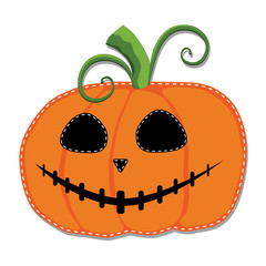 Jack o lantern or carved pumpkin isolated