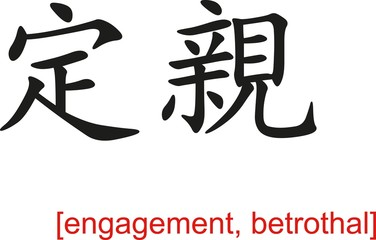 Chinese Sign for engagement, betrothal