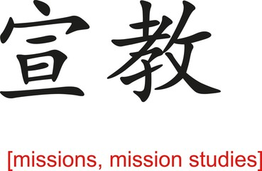 Chinese Sign for missions, mission studies